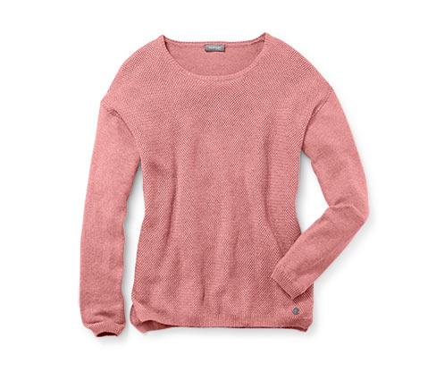 Női pulóver, rózsaszín-melanzs