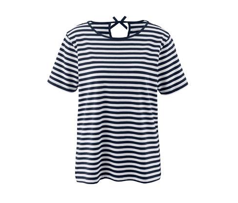 Prúžkované tričko s krátkym rukávom