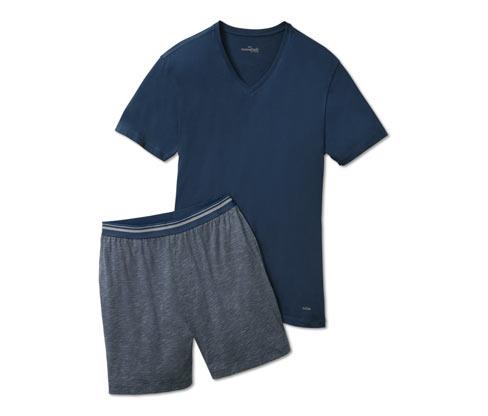 Férfi rövid pizsama, kék
