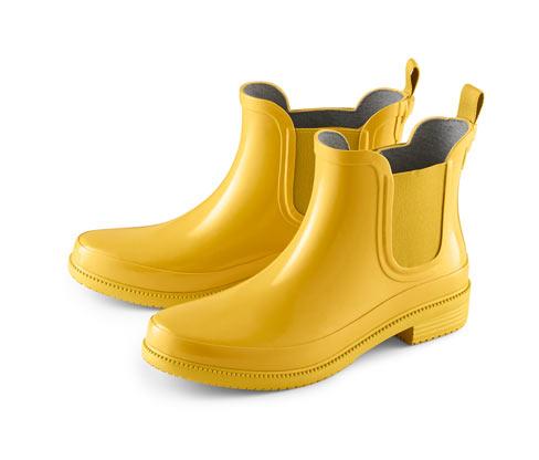 Női gumi bokacsizma, sárga