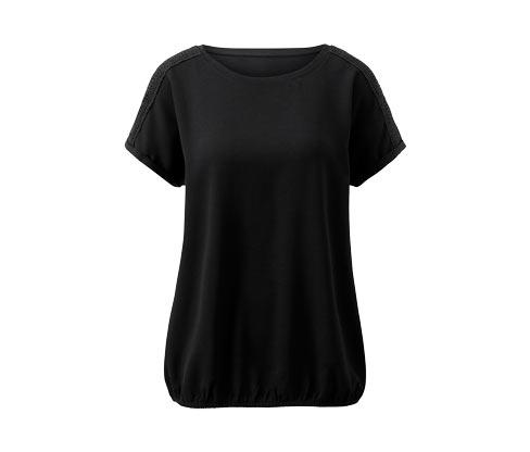 Tričko s krátkym rukávom zo zmesi materiálov