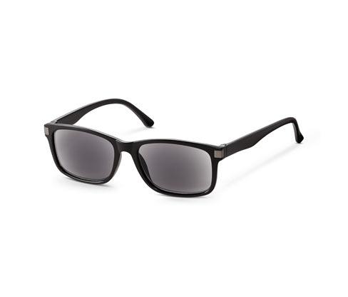 Przyciemniane okulary do czytania z euti oraz ściereczką do czyszczenia, prostokątne