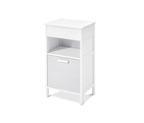 Fürdőszobai kis szekrény, fehér/szürke