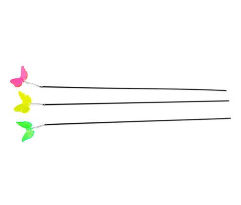 Świecące ozdoby w kształcie motyli z efektem drżenia, 3 sztuki