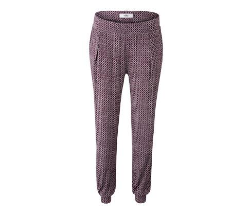 Krem Rengi Baskılı Bordo Jersey Pantolon