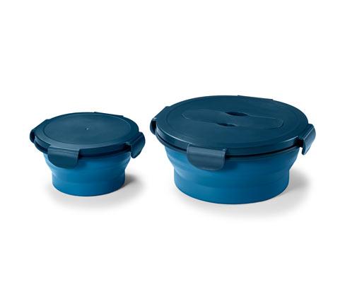 2 faltbare Frischhaltedosen