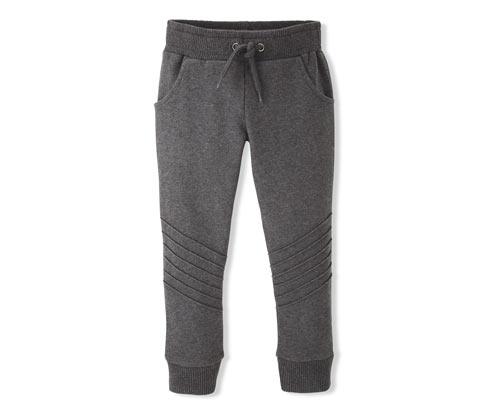 Organik Pamuklu Pantolon, Kırçıllı Koyu Gri