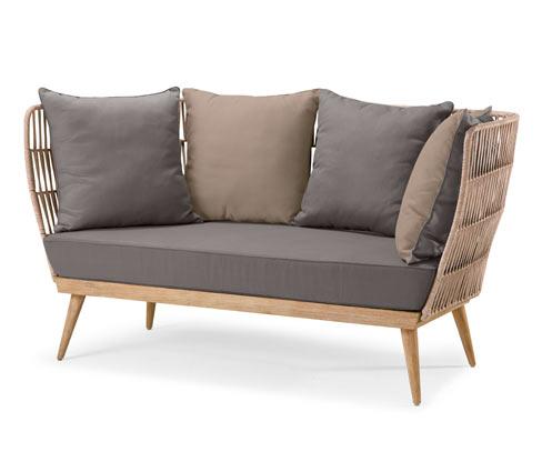 Sofa wypoczynkowa »premium« z tekstylną plecionką