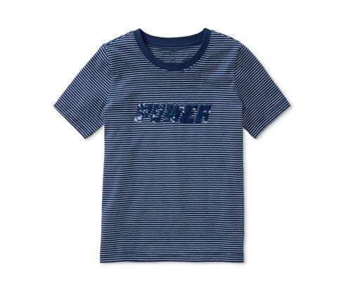 Streifen-T-Shirt mit Wendepailletten