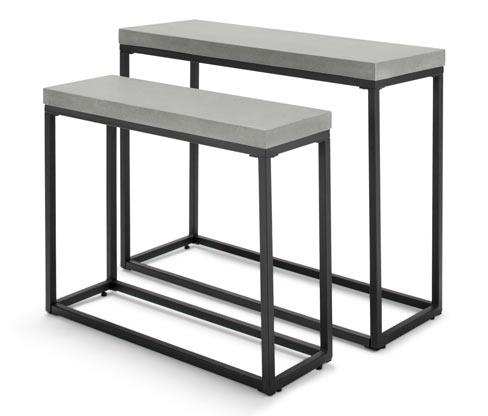 Stoliki ogrodowe stylizowane na betonowe, 2 sztuki
