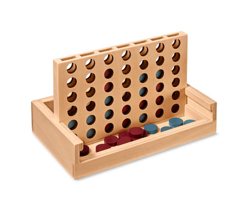 Drewniana gra »4 w jednym rzędzie«