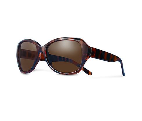 Okulary do czytania z przyciemnianymi szkłami, ciemnobrązowe