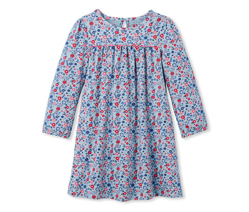 Kislány jerseyruha, virágos