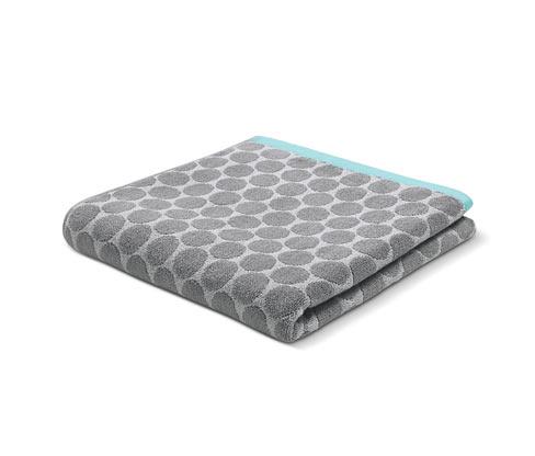 Żakardowy ręcznik kąpielowy z tkaniny frotté z wzorem w okręgi