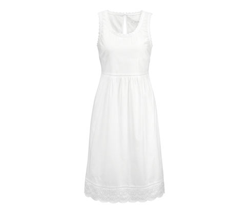 Biała koszula nocna z czystej bawełny z ażurowym haftem