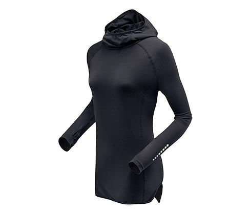bluza do biegania z kapturem z odblaskam