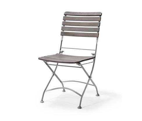 Składane krzesło, metal i drewno