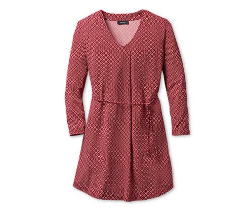 Sukienka-tunika z nadrukiem, czerwona