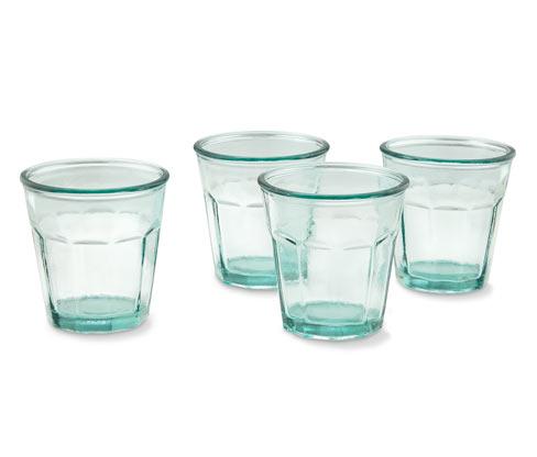 Zestaw szklanek z zielonego szkła , 4 sztuki