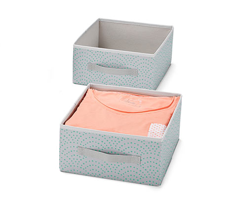 Úložné boxy do zásuvky, 2 ks, velké