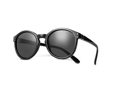 Okulary do czytania z przyciemnianymi szkłami, czarne