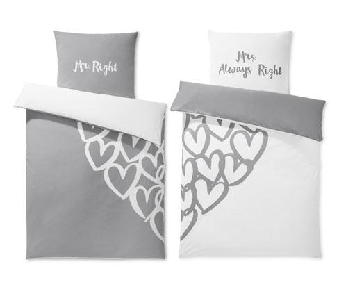 Obojstranná posteľná bielizeň renforcé pre páry, štandardná veľkosť