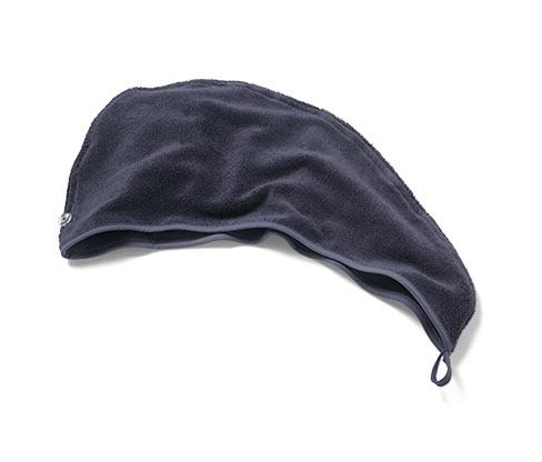 Ručníkový turban, šedý