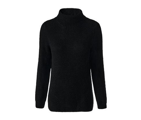 Damski sweter z dzianiny z półgolfem