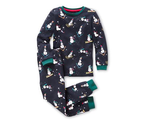 Gyermek pizsama, interlock, kék