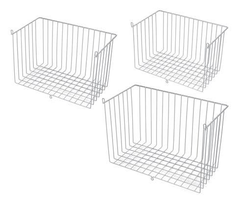 Košíky na dvířka skříně, 3 ks