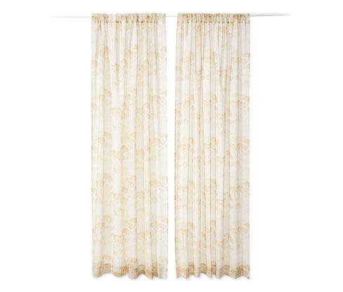 2 rideaux transparents