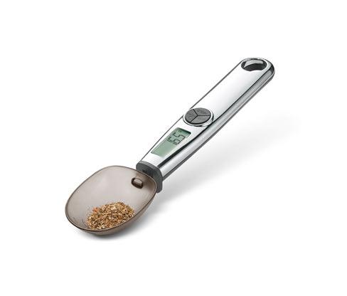 Digitálna kuchynská váha v tvare lyžice