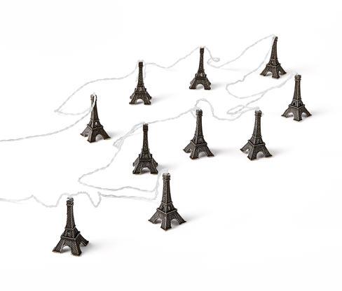 Eiffel-torony napelemes LED-es égősor