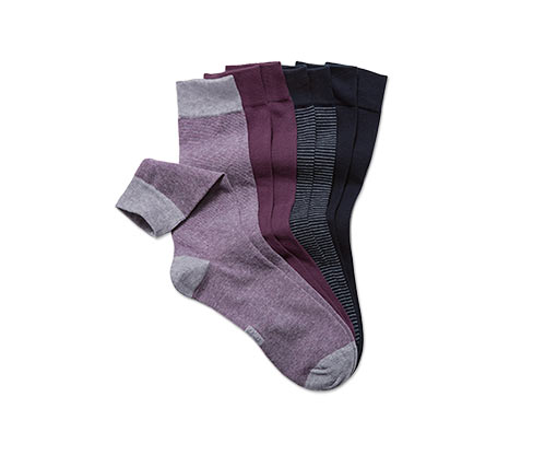 Skarpety, 4 pary, w odcieniach koloru oberżyny