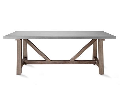 Stół ogrodowy stylizowany na beton, 2 m