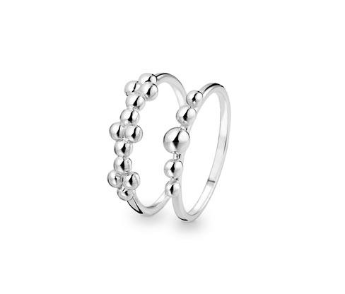 "Sada stříbrných prstenů ""Pure Collection"""