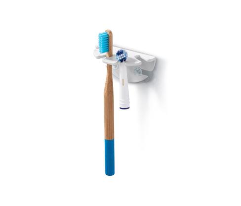Uchwyt na szczoteczki do zębów mocowany na przyssawki