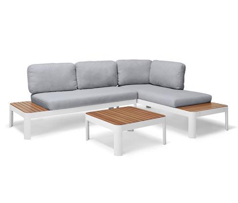 Zestaw 2 sof i stołu ogrodowego