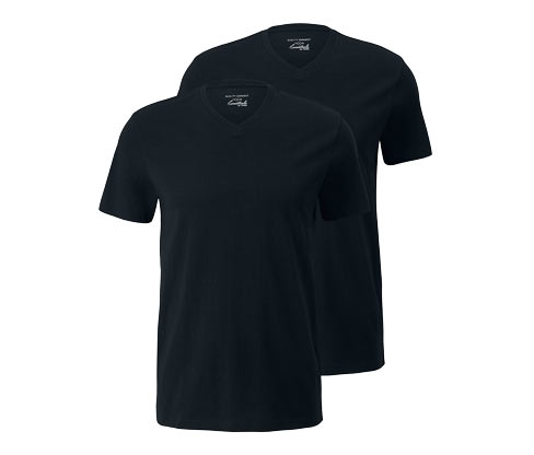 2 T-shirts med V-hals