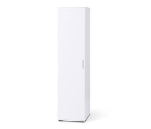 Jednodveřová šatní skříň, cca 45 cm široká