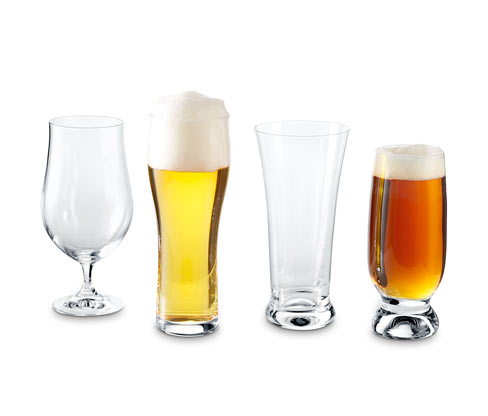 Kryształowe szklanki do piwa rzemieślniczego, 4 sztuki