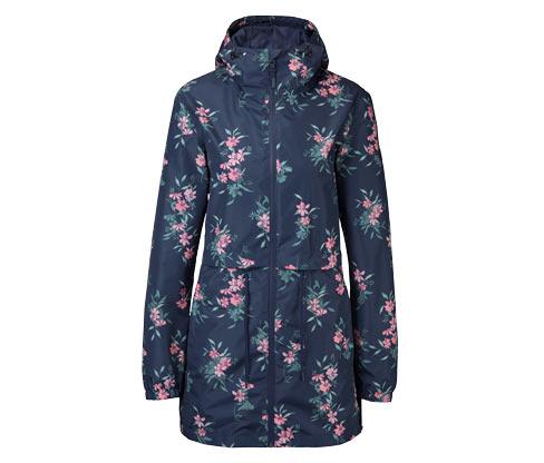 Női összehajtható kabát, virágos