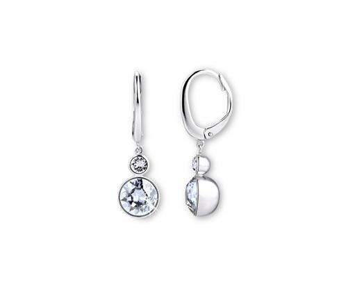 Kolczyki wiszące wysadzane kryształami marki Swarovski®