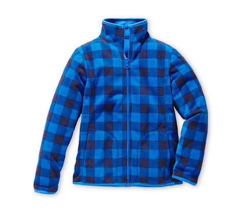 Oboustranná fleecová bunda, kombinace světle a tmavě modré