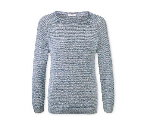 Női kötött pulóver, kék