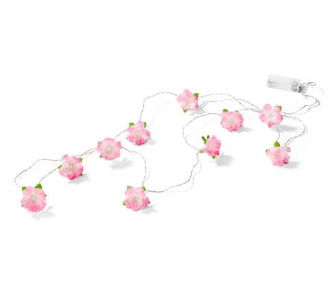 LED-es égősor, virágos