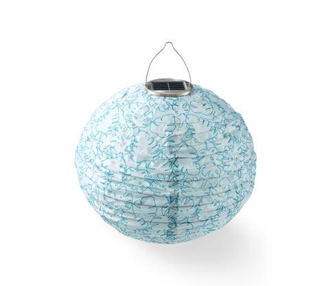 Dekoracyjny, wodoodporny lampion solarny, okrągły