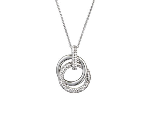 Silberkette mit Zirkonia* in Pavé-Fassung