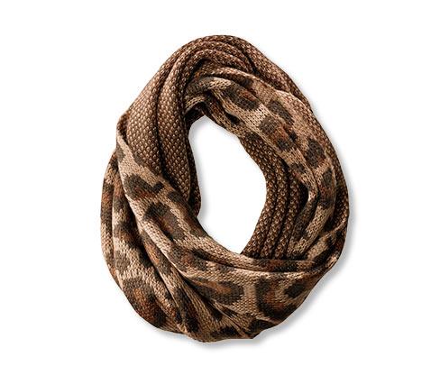 Pletený dutý šál, béžový