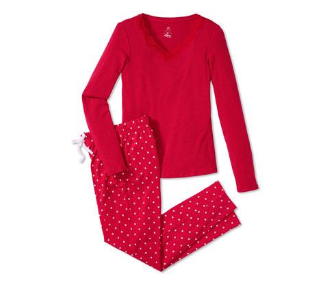 Damska piżama z dżerseju z długim rękawem i spodniami